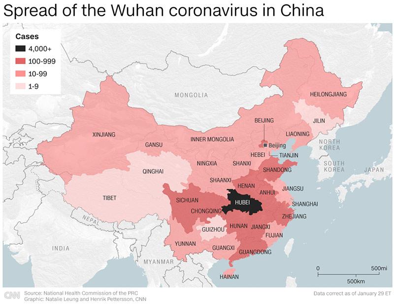 wuhan coronavirus covid 19 map